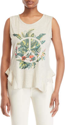 Jessica Simpson Graphic Peace Sign Tank Top