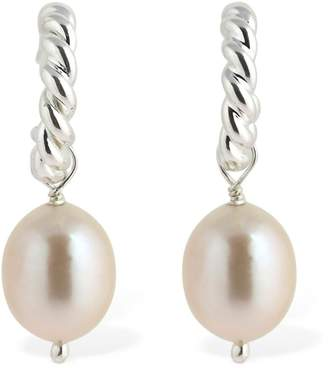 Isabel Lennse Twisted Earrings W/ Freshwater Pearls