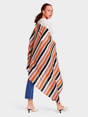 White + WarrenWhite + Warren Cashmere Multi Color Stripe Travel Wrap