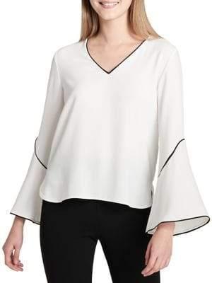 Calvin Klein Plus Bell Sleeve Blouse