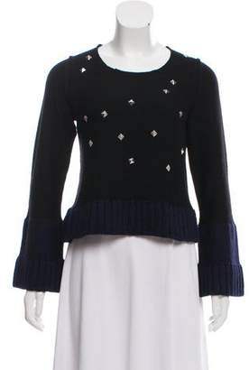 Sonia Rykiel Sonia by Wool Embellished Knit Sweater
