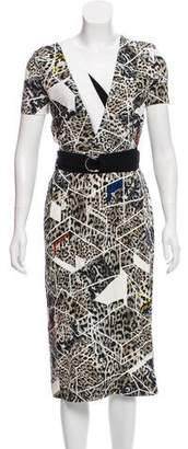 Preen by Thornton Bregazzi Printed V-Neck Dress w/ Tags