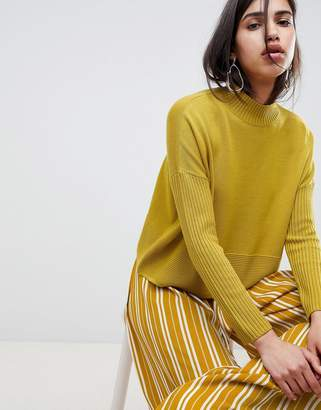 Asos Design DESIGN eco boxy jumper with ripple hem