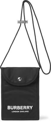 Burberry Logo-Print Nylon Messenger Bag - Men - Black