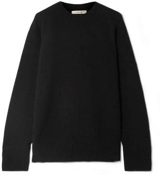 The Row Sibel Oversized Wool And Cashmere-blend Sweater - Black