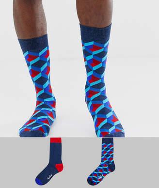 Happy Socks 2 pack print socks
