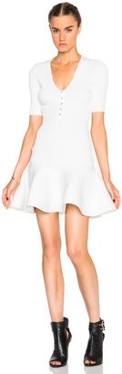 Alexander McQueen V Neck Mini Dress $2,065 thestylecure.com