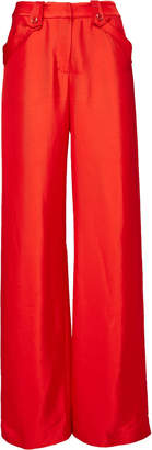 Brandon Maxwell High-Waisted Fold-Over Pocket Pant