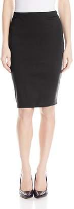Star Vixen Women's Below-Knee Pencil Skirt with Back Slit