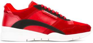 DSQUARED2 contrast panel trainers