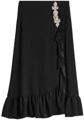 Christopher Kane Midi Frill Skirt with Embellishment