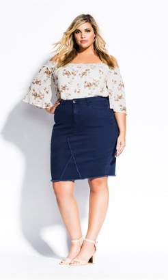 2e9543ab354 City Chic Citychic Untamed Skirt - Denim