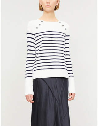 The White Company Breton striped knitted jumper