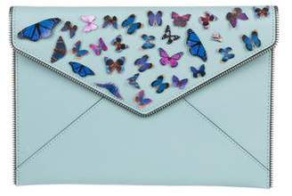 Rebecca Minkoff Leather Butterfly Clutch