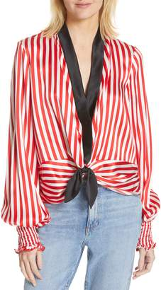 Caroline Constas Bette Tie Silk Blouse
