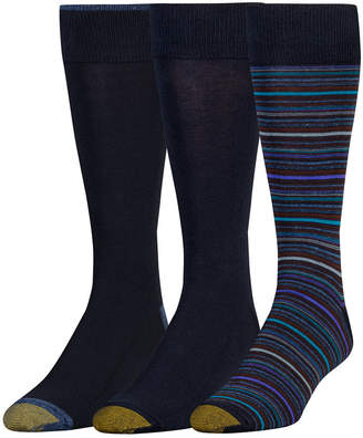 Gold Toe Men's 3-Pk. Fashion Socks