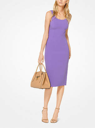 Michael Kors Stretch Wool-Crepe Sheath Dress