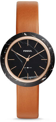 Fossil Camille Three-Hand Luggage Leather Watch