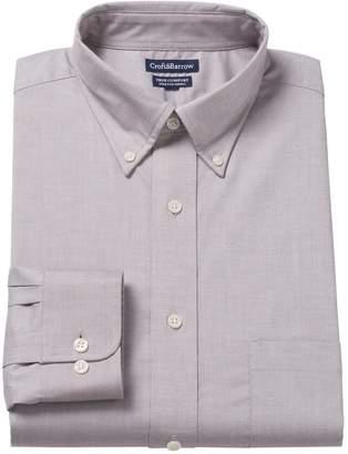 Croft & Barrow Men's Easy-Care True Comfort Regular-Fit Stretch Dress Shirt