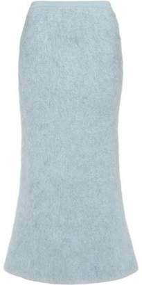Vionnet Fluted Mohair-Blend Maxi Skirt