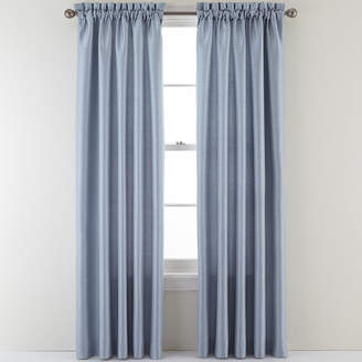 Asstd National Brand Sutton Place Antique Satin Rod-Pocket Curtain Panel