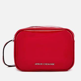 e969c52a851 Armani Exchange Women s Patent Logo Cross Body Bag - Red