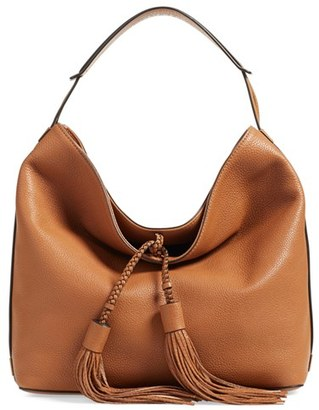 Rebecca Minkoff 'Isobel' Tassel Leather Hobo - Brown $295 thestylecure.com