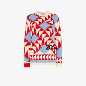 Calvin Klein geometric knit long sleeve sweater
