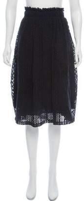 Apiece Apart Embroidered Knee-Length Skirt