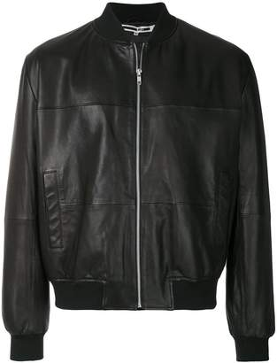 McQ leather bomber jacket
