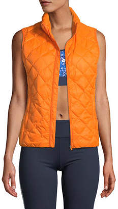 Tory Sport Zip-Front Packable Down Vest
