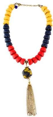 Saint Laurent Multicolor Bead Necklace