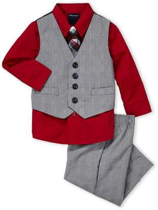 Nautica Infant Boys) 3-Piece Plaid Vested Shirt & Dress Pants Set
