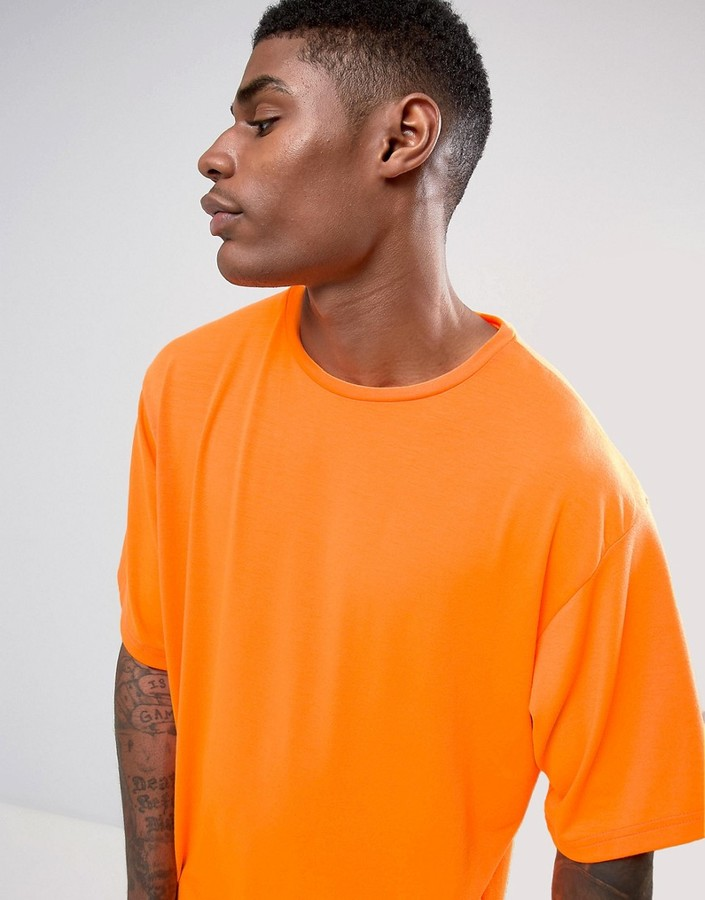 Granted Oversized T-Shirt In Neon Orange 4