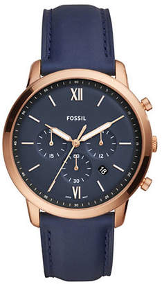 Fossil Neutra Chronograph Navy Leather Watch