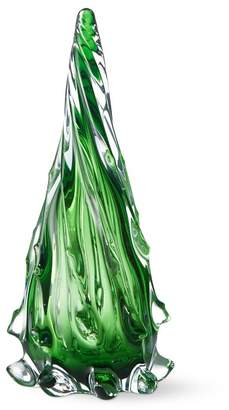 Williams-Sonoma Tall Glass Christmas Tree, Green