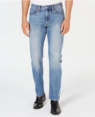 Calvin Klein Jeans Men's American Classics Straight-Fit Stretch Side Stripe Jeans, CkJ 035
