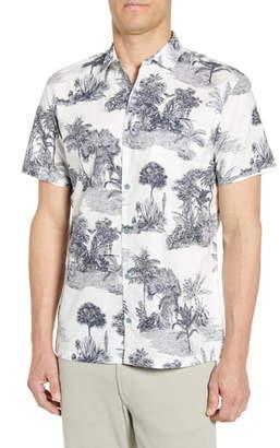 Tori Richard Pen & Ink Regular Fit Short Sleeve Button-Up Sport Shirt