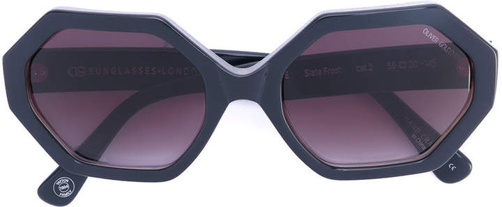 Oliver Goldsmith 'Primrose' geometric frame sunglasses