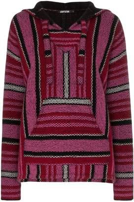 Adaptation Baja stripe cashmere hoodie