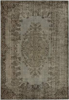 Ecarpetgallery eCarpet Gallery 163922 Hand-Knotted Anatolian Overdyed Gray Transitional 5' x 8' 100% Wool Kitchen Dining Room Area Rug
