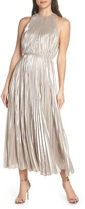 Jill Stuart Pleated Metallic Dress