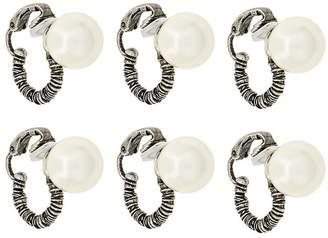 Saint Laurent coil pearl hoop