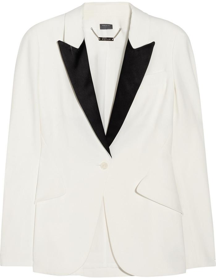 Alexander McQueen Crepe tuxedo blazer
