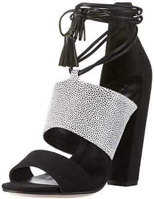Paper Dolls Women Open Toe Sandals Grey Size: 8 UK