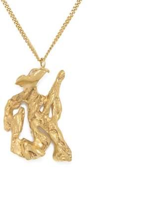 Lee Loveness Chinese Zodiac Snake Horoscope Gold Pendant Necklace