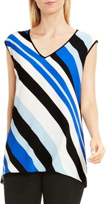 Women's Vince Camuto Nautical Band Mixed Media Top $59 thestylecure.com