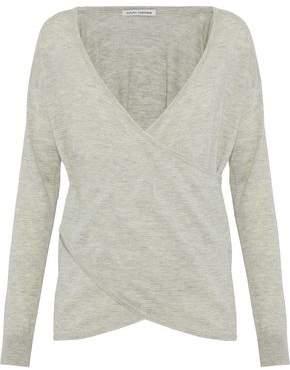 Autumn Cashmere Wrap-Effect Mélange Cashmere Sweater