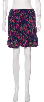 Saloni Floral Print Pleated Mini Skirt w/ Tags