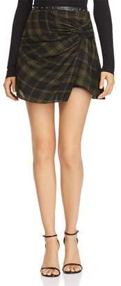 Ramy Brook Dana Plaid Mini Skirt